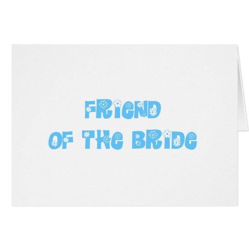 Amigo de la novia tarjeton