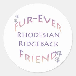 Amigo de la Piel-nunca de Rhodeisan Ridgeback Etiqueta Redonda
