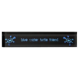 Amigo de la tortuga del agua azul