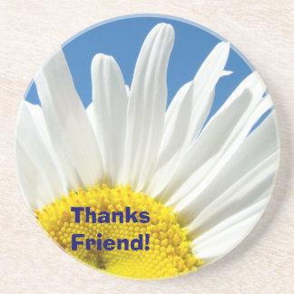 ¡Amigo de las gracias flor de la margarita de los Posavasos Manualidades
