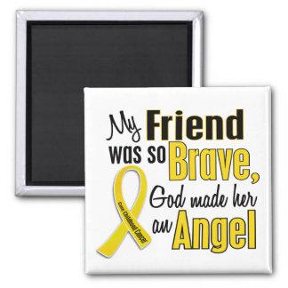 Amigo del ÁNGEL 1 del cáncer de la niñez (femenino Imán Cuadrado