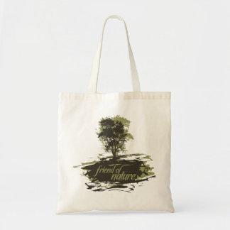Amigo del bolso de la naturaleza bolsa lienzo
