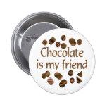 Amigo del chocolate pins