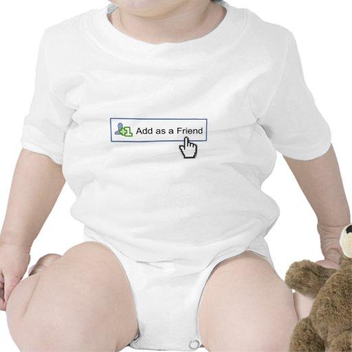 amigo del facebook traje de bebé