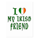 Amigo del irlandés del amor postales