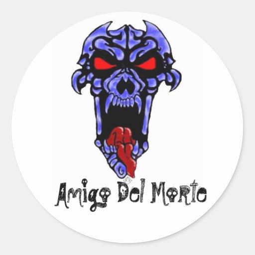 Amigo Del Morte Round Stickers