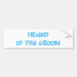 Amigo del novio etiqueta de parachoque