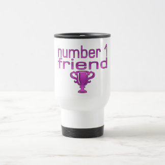 Amigo del número 1 en rosa taza térmica