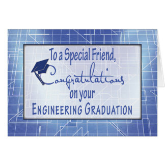 Amigo, dirigiendo enhorabuena de la graduación tarjeta de felicitación
