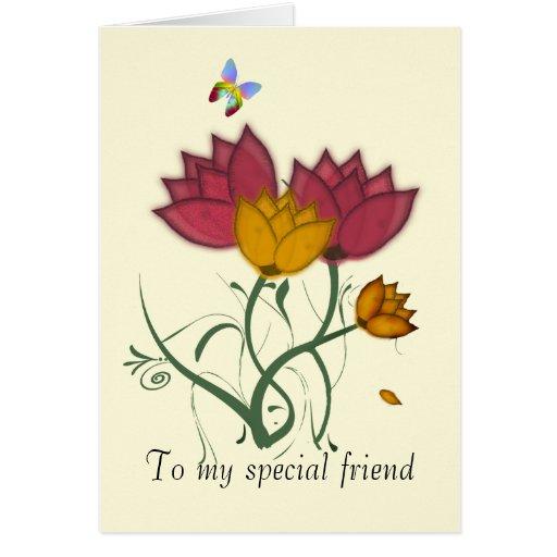 Amigo especial tarjeta de felicitación