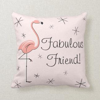 """Amigo fabuloso rosado del flamenco """"!"""" almohada de"""
