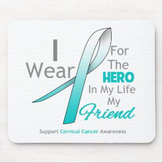 Amigo - héroe en mi vida - cáncer de cuello del út tapete de ratones