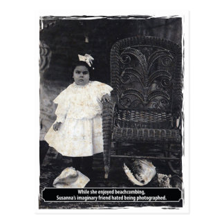 Amigo imaginario impar de Susannas del vintage Postal