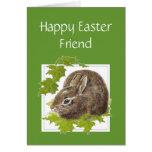 Amigo lindo feliz del Special del conejito de Pasc Felicitacion