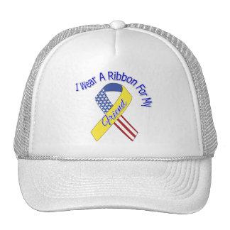 Amigo - llevo un patriótico militar de la cinta gorro