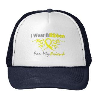 Amigo - llevo una ayuda amarilla de los militares  gorras