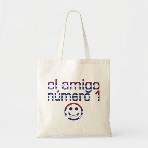Amigo Número 1 del EL en los colores cubanos de la Bolsa De Mano