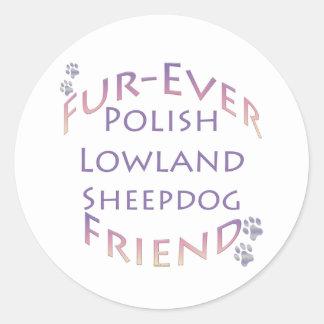 Amigo polaco de la Piel-nunca del perro pastor de Pegatinas Redondas