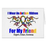 Amigo tribal de la cinta del autismo tarjeta