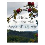¡Amigo, usted es Apple de mi ojo! Postales