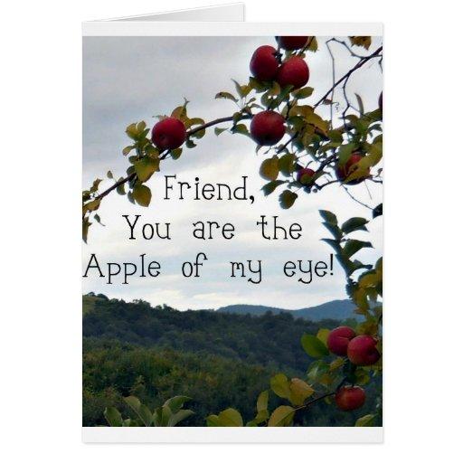 ¡Amigo, usted es Apple de mi ojo! Tarjeta De Felicitación