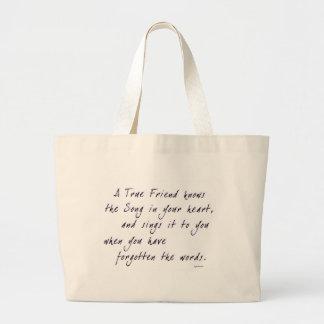 Amigo verdadero bolsas de mano