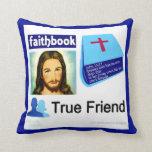 Amigo verdadero del libro de la fe de Jesús fb Cojín Decorativo