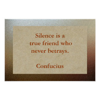 Amigo verdadero del silencio póster