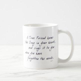 Amigo verdadero tazas de café