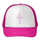 AMIGO y AMIGA - un gorra de la voluntad
