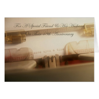 Amigo y su tarjeta del aniversario del marido 48 o