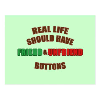 Amigo y Unfriend Postales