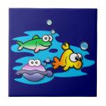 Amigos a pescado azulejo