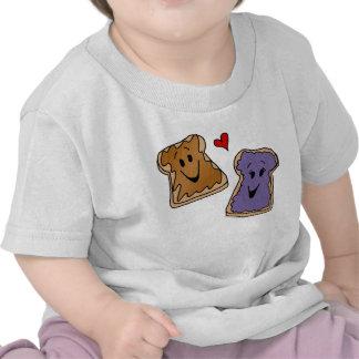 Amigos alegres del dibujo animado de la mantequill camiseta
