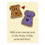 Amigos alegres del dibujo animado de la mantequill tarjetas postales