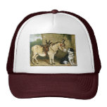 Amigos animales del perro y del burro - arte del v gorras de camionero