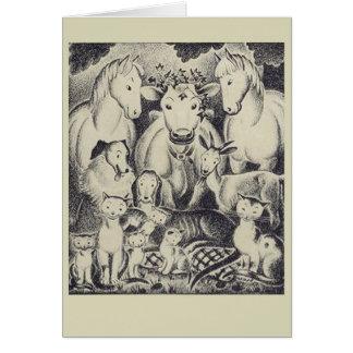 Amigos animales tarjeta de felicitación
