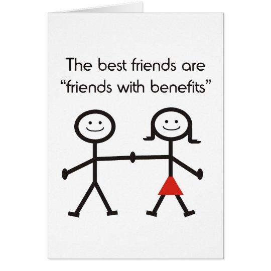 Amigos con las ventajas tarjeta pequeña