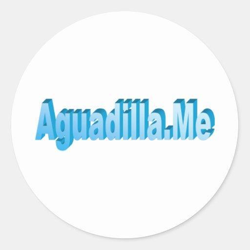 Amigos de Aguadilla.Me Pegatina Redonda