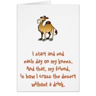 Amigos de Bill W.:  Tarjeta de nota del camello de