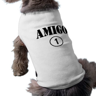 Amigos de habla hispana: Uno de Numero del amigo Playera Sin Mangas Para Perro