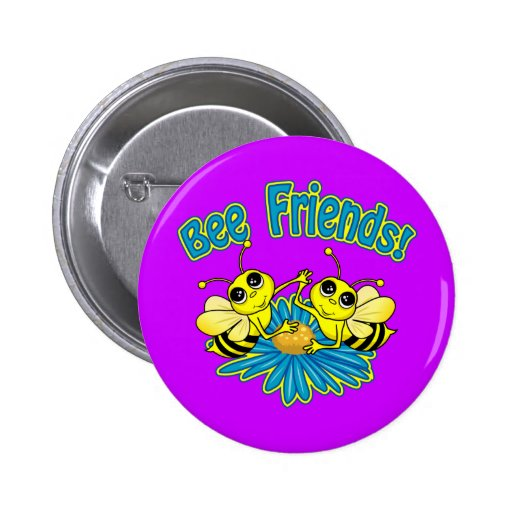 Amigos de la abeja pin redondo de 2 pulgadas