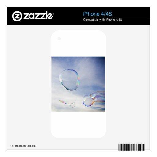 Amigos de la burbuja calcomanías para el iPhone 4S