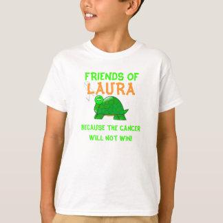 Amigos de la camiseta de Laura con la tortuga del