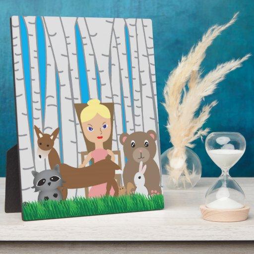 Amigos de la madre naturaleza y del animal placa de plastico