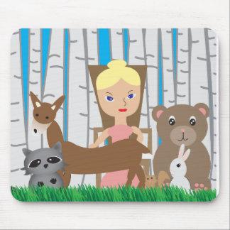Amigos de la madre naturaleza y del animal tapete de raton
