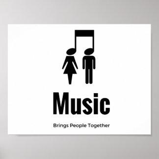 Amigos de la música póster