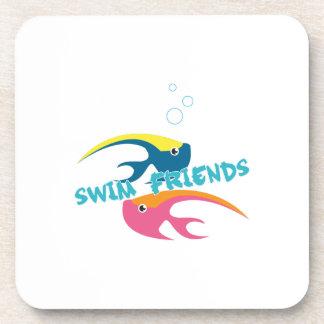 Amigos de la nadada posavasos de bebida