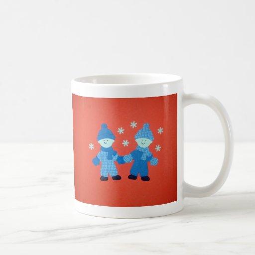 Amigos de la nieve taza de café