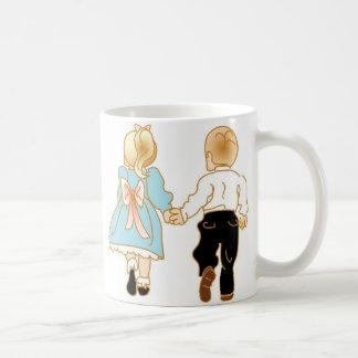 Amigos de la niñez taza de café